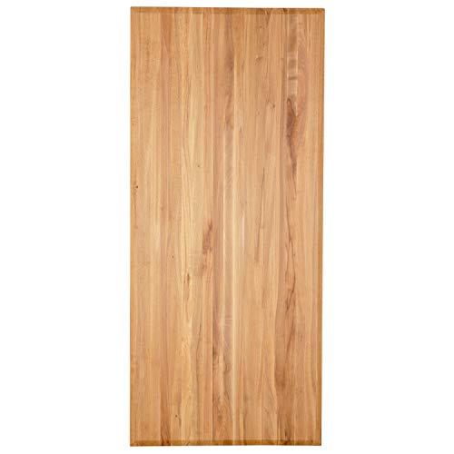 Staboos Tischplatte 160x80 cm Massivholz Buche - Hochwertige Massivholzplatte feingeschliffen - Geölte Schreibtischplatte - Schadstofffreie Holzplatte massiv als Esszimmertisch