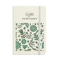 植物の葉緑の花を描く 歴史ノートクラシックジャーナル日記A 5