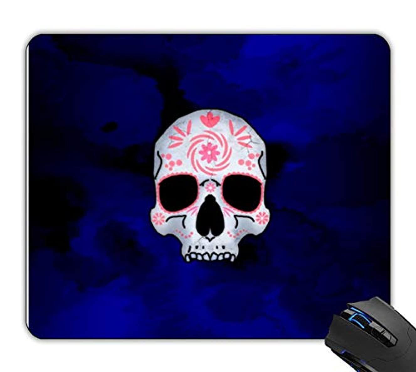 OTTIET Custom Pink Decorated Skull Gaming Mouse Pad 9.5 X 7.9 Inch (240mmX200mmX2mm).Non-Slip Thick Rubber Large Mousepad.