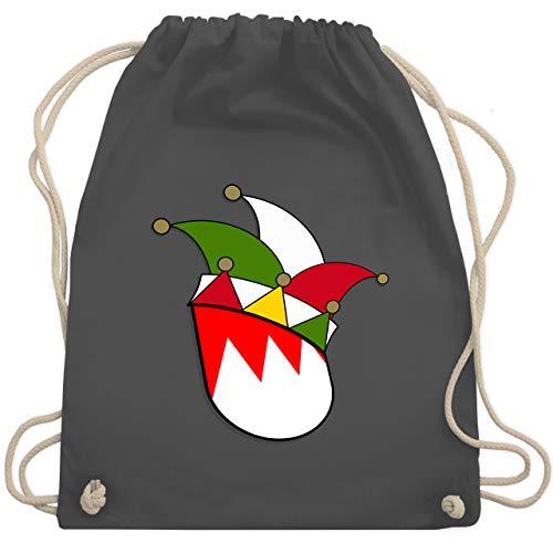 Shirtracer Karneval & Fasching - Franken Wappen Narrenkappe - Unisize - Dunkelgrau WM110 - Turnbeutel und Stoffbeutel aus Baumwolle