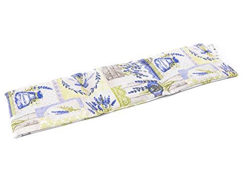 TERMOSAK 45 x 14 cm, warmtekussen, pittenkussen natuurlijk (warm/koud) met zaden met hoge dichtheid en lavendel, Magnetron warmte kussen (45x14, Lavendel)