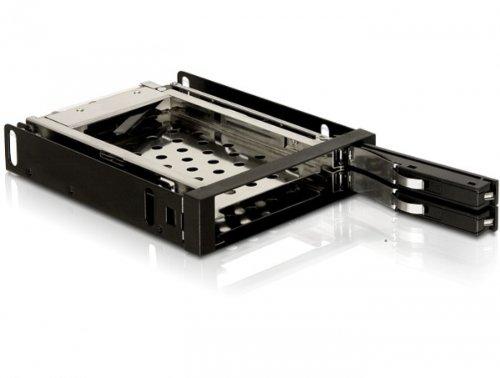 DELOCK 8,9 cm 3,5 inch wisselframe voor 2x 6,4 cm 2,5 inch SATA HDD