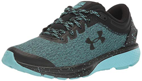 Under Armour Women's Charged Escape 3 Running Shoe, Black (004)/Blue Haze, 12