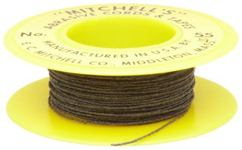 Mitchell Abrasives - 55S-25 55-S Round Abrasive Cord, Silicon Carbide 200 Grit .018' Diameter x 25 Feet
