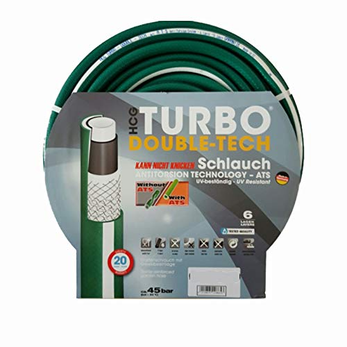 Slang24 Premium professionele tuinslang waterslang Turbo Double-Tech 6 lagen 3/4 Zoll 25 m