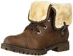 top 10 roxy winter boots Roxy Bruna Women's Fashion Lace-up Boots Dark Brown 6.5m USA