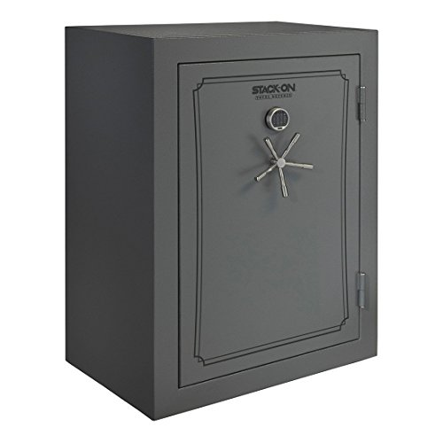 Stack-On TD-69-GP-E-S Total Defense 51-69 Gun Safe with Electronic Lock, Gray Pebble