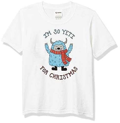SOFFE Unisex-Kinder Funny Novelty Christmas Slogan for Xmas T-Shirt, Yeti für Weihnachten, Medium