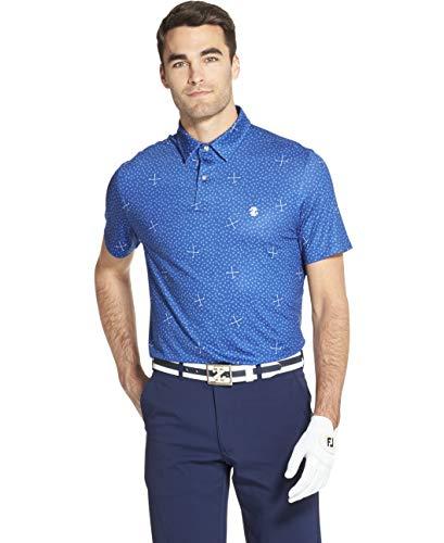 IZOD Men's Golf Fashion Short Sleeve Polo Shirt, True Blue, X-Large