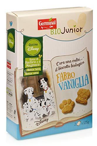 Germinal Bio Biscotti Farro Vaniglia Disney - 8 Confezioni da 250 gr