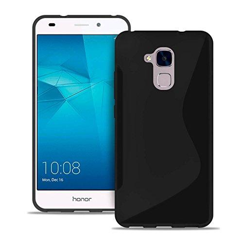 S-line Slim Hülle für Huawei Honor 5c | Unifarben Tasche in Schwarz