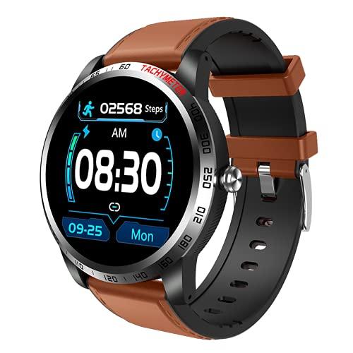 ZGZYL W3 Smart Watch Men's Fitness Tracker Hombre Y Dispositivo Portátil para Mujeres con Presión Arterial Monitor De Ritmo Cardíaco De Oxígeno En Sangre Pulsera De Detección De ECG,A