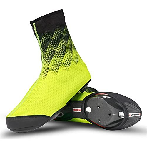 Cubiertas para Zapatos de Bicicleta,Cubierta Impermeable para Zapatos para Montar,Cojín de Palma de PVC para Bicicleta,Candado para Bicicleta de Montaña Cálida,Cubierta para Zapatos,Yellow-Xlarge