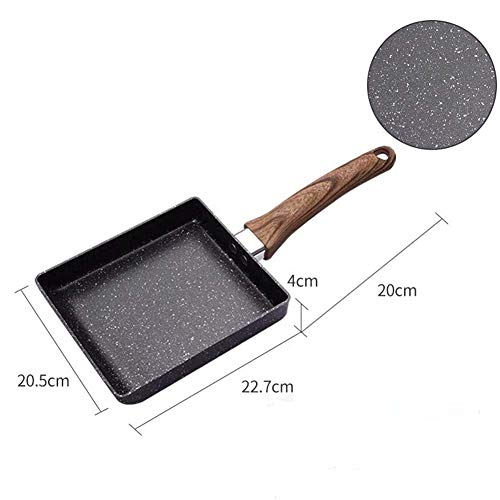 Absir Frying Pan Tamagoyaki Omelette Non-Stick MaiFan Stone Frying Pan Egg Roll Pot large induction cooker type