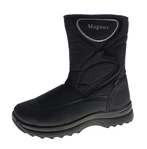Magnus Herren Winter Stiefel warm gefüttert Schuhe Kat-TEX Outdoor Boots Klettverschluss Schwarz Gr. 42
