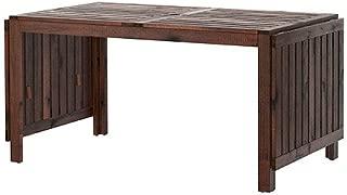 IKEA APPLARO,Drop-leaf table, brown