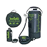 Kradl - Portable Camping Shower / 2.9 Gallon Solar Camping Shower Bag with Foot Pump and Sprayer/Solar Camp Shower Kit
