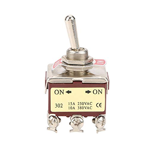 Interruptor de palanca ON-ON Interruptor de palanca de 2 posiciones 3PDT 9 pines 12 mm 15A/250VAC 10A/380VAC
