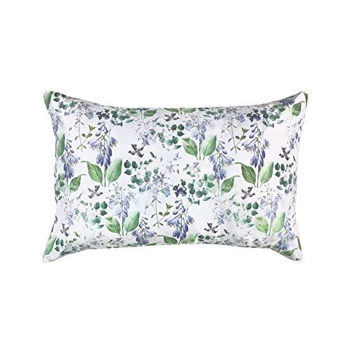 Free Brand - Federa per cuscino da meditazione, con grano saraceno, con motivo floreale su bianco, per reni, per cuscino shabby chic, per cuscino con accento su bianco