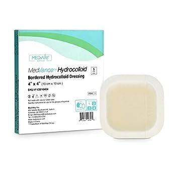 MedVance TM Hydrocolloid – Bordered Hydrocolloid Adhesive Dressing 4 x4  Box of 5 DRESSINGS
