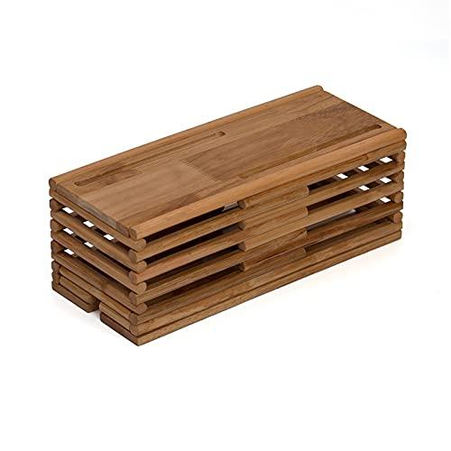 Caja de organizador de cuerdas Caja de administración de cables de madera para ocultar alambres y pulsaciones Organizador de la caja de cables de escritorio para el cable y la gestión del cable