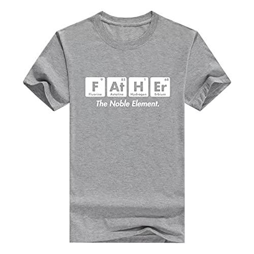 Camiseta divertida para el Día del Padre Elemento de Regalo para Papá, gris, XXL