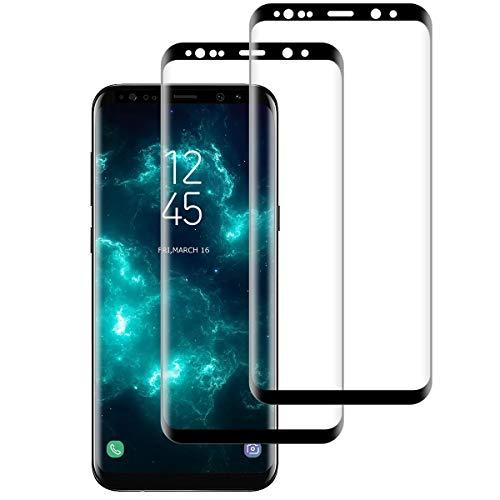 Vetro temperato per Samsung Galaxy S8, 2 pezzi, Pellicola protettiva per Samsung Galaxy S8 - Antigraffio - HD - Durezza 9H ultra resistente - Senza bolle