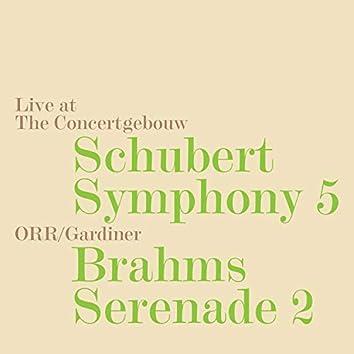 Schubert: Symphony No. 5, D. 485 - Brahms: Serenade No. 2, Op. 16 (Live)