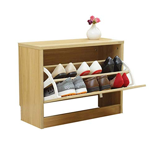 ZAIHW Gabinete de Almacenamiento de Zapatos de Madera, cajón, Soporte para Calzado, Unidad de Estante, Armario, Organizador de Muebles (Color: Color Madera)