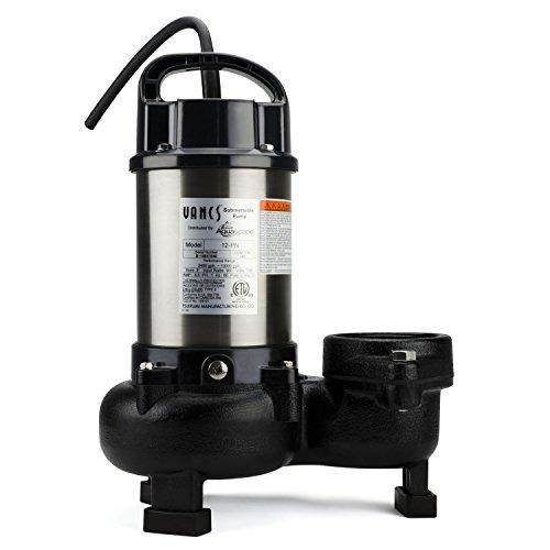 Aquascape 30391 Tsurumi 12PN Submersible Pump for Water Features, 3', Black