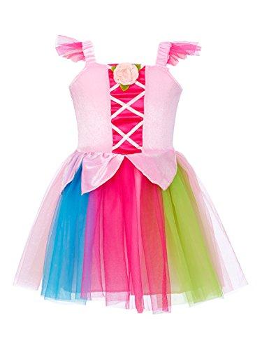 Rose Romeo & 10056 Costume per Travestimento, Soggetto: Nuria, Motivo: Vestito, Colore: Rosa Chiaro/Multicolore