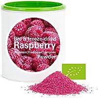Frambuesa en Polvo - Liofilizado biológico vegano crudo pura fruta no aditivo rica en vitamina Good Nutritions 120g