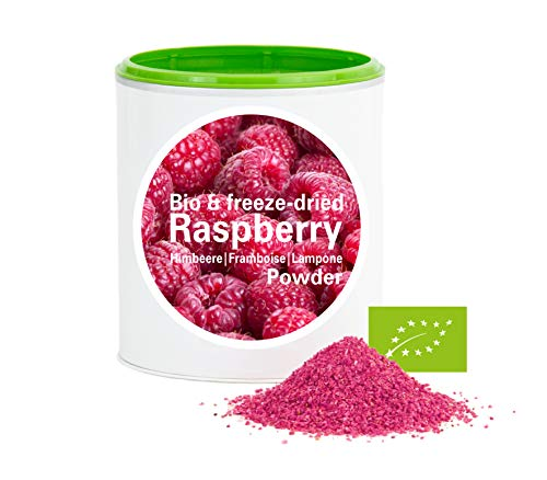 Framboise en poudre - Lyophilisées|biologique|végan|crue|pure fruits|sans additives|riches en vitamins|Good Nutritions 120g