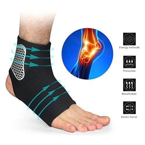 Knöchelbandage, Sprunggelenk Bandage, Fußbandage für Herren und Damen, Kompressionsstrümpfe, Kompressionssocken für Sport, Fussball, Fitness