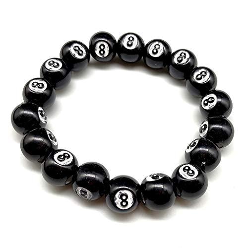 Tsorryen Colorful Acrylic Dice Beads Stretch Bracelets Funny Game Lucky Dice Bracelets