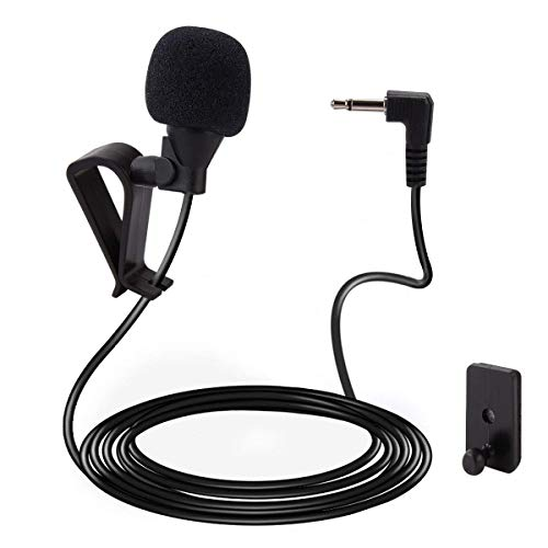 HOPRO Mic 3.5mm Microphone External Assembly for Car Vehicle Head Unit Bluetooth Enabled Audio Stereo Radio GPS DVD with 3m Cable Plug and Play
