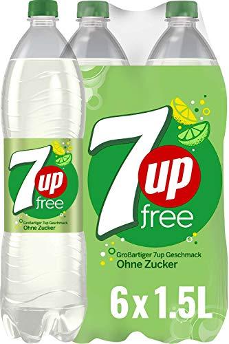 7UP Free, Zuckerfreie Limonade mit Zitronen- und Limettengeschmack (6 x 1,5 l)