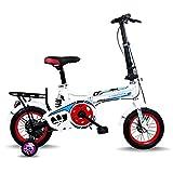 MYERZI Absorción de Impacto Bicicleta Plegable de 12 Pulgadas Ultra-Ligeras Bicicletas Primaria y la Escuela Secundaria y de Bicicletas de los Hombres de Las Mujeres portátiles de los niños Dan a los