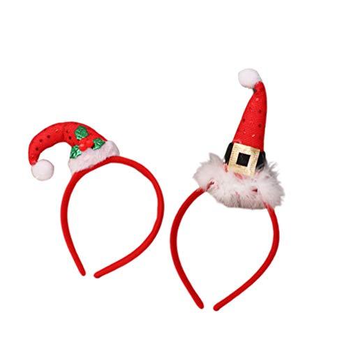 Lurrose, Cerchietto Natalizio Con Babbo Natale, Per Bambini E Adulti, 2 Pezzi