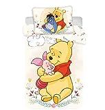 Disney - Juego de cama de Winnie Pooh, 2 piezas Tamaño: 100 x 135 cm, 40 x 60 cm, 100 % algodón