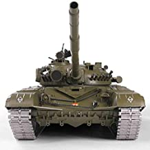 Remote Control 2.4Ghz 1/16 Scale Russian T-72 Main Battle Airsoft & IR RC Tank Smoke & Sound (Upgrade Version w/ Metal Gear & Tracks)