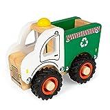 WOOMAX - Camión juguetes, camión reciclaje juguete, camión reciclaje de madera, coches de juguete, camión reciclar, Juguetes educativos, juguetes bebés 18 meses (46462)