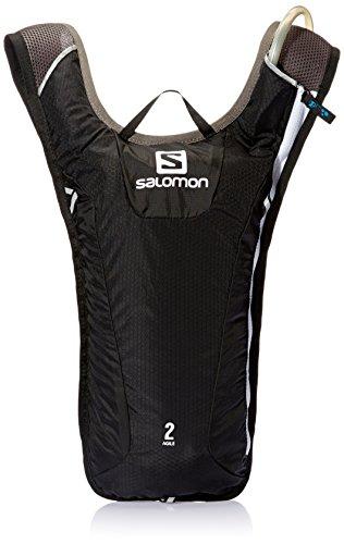 Salomon, Super leichter Rucksack 3 L zum Skifahren, Snowboarden oder Laufen, 40 x 20 x 2 cm, 171 g, AGILE 2 SET, Schwarz (Black/Iron/White), L37574500