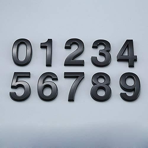 XSYYQYLL Signo de la Puerta número Negro Número Inicio Auto Adhesivo del Hotel Oficina Calle número de Etiqueta de Puerta 0 a 9 Número de la Calle (Color : 4)