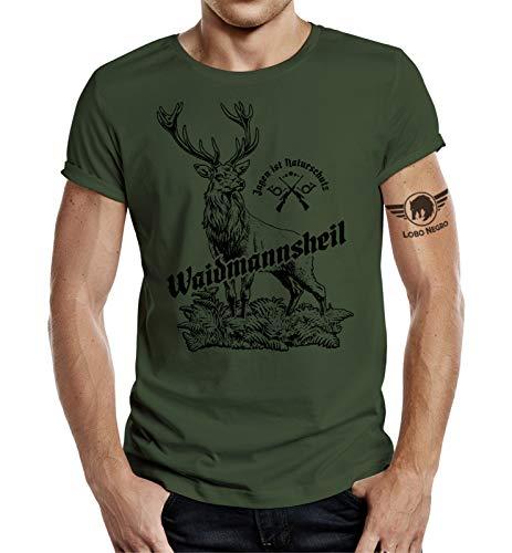 Jäger T-Shirt: Waidmannsheil - Jagen ist Naturschutz XL