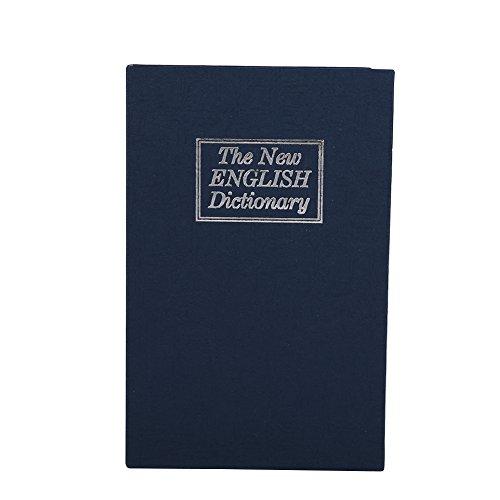 Acouto Caja de Seguridad, Caja de Diccionario de Seguridad 1 Cerradura de Seguridad Personal, Diccionario Seguro Libro Secreto Seguro Dinero en Efectivo Joyería Caja de Taquilla Oculta(Azul)