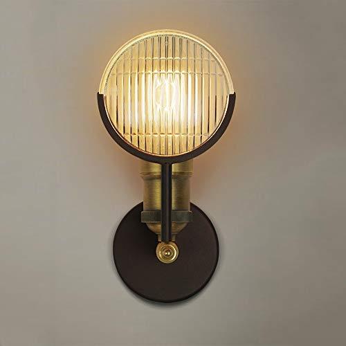 De enige goede kwaliteit Decoratie E27 Industriële Retro Stijl Koper Glas Wandlamp 5-10 Vierkante Meter Spiegel Koplampen Verlichting armaturen Villa