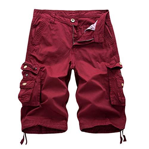 Pantalones Moda Verano Mid-Rise Cortocircuitos Hombres SueltoCasual Multibolsillo Pantalones Herramientas Gran Precio Cortar