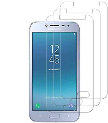 HongMan [3 Stück] Panzerglas Folie für Samsung Galaxy J2 Prime Schutzfolie, Bildschirmschutzfolie Mit Frei von Fingabdrücken & Öl, 9H Festigkeit, 0,26mm Ultra-klar, Anti-Bläschen, Anti-Kratzen