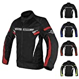 ALPHA CYCLE GEAR BREATHABLE BIKERS RIDING PROTECTION MOTORCYCLE JACKET MESH CE...